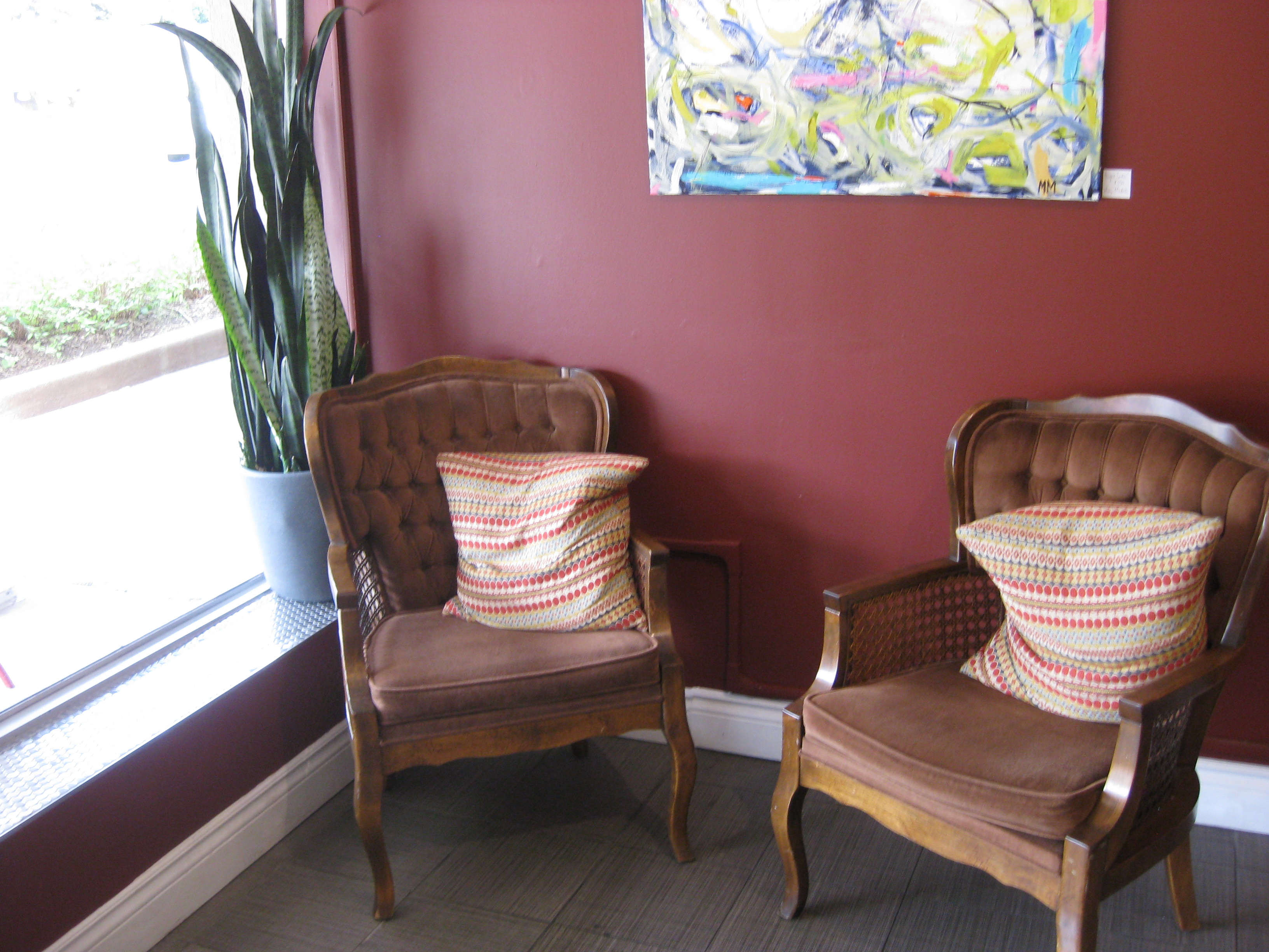 cozy chairs