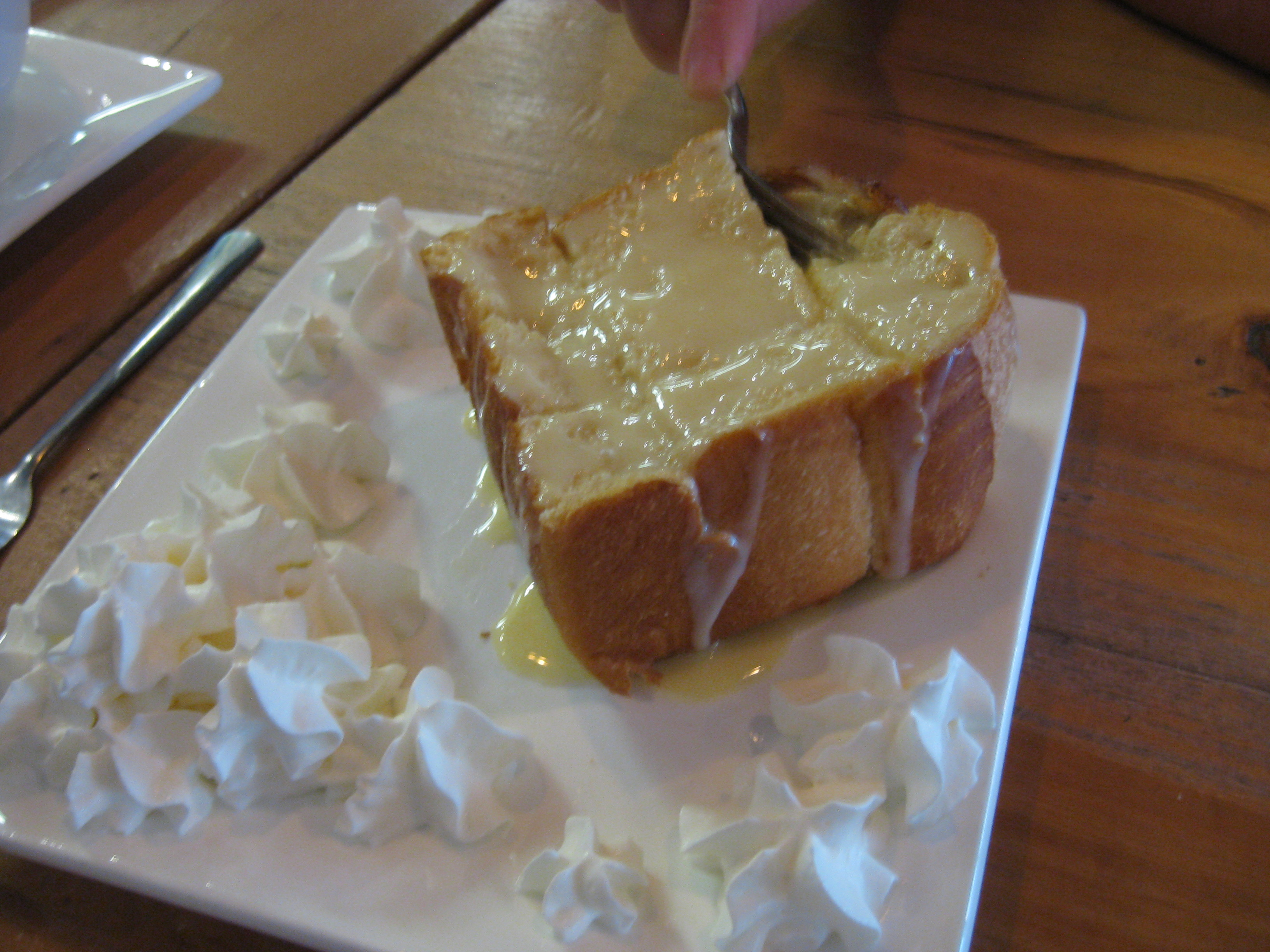 Taiwanese toast with condensed milk