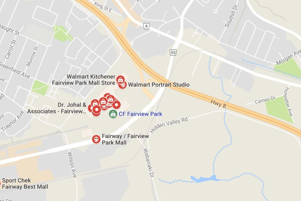 map of fairview mall