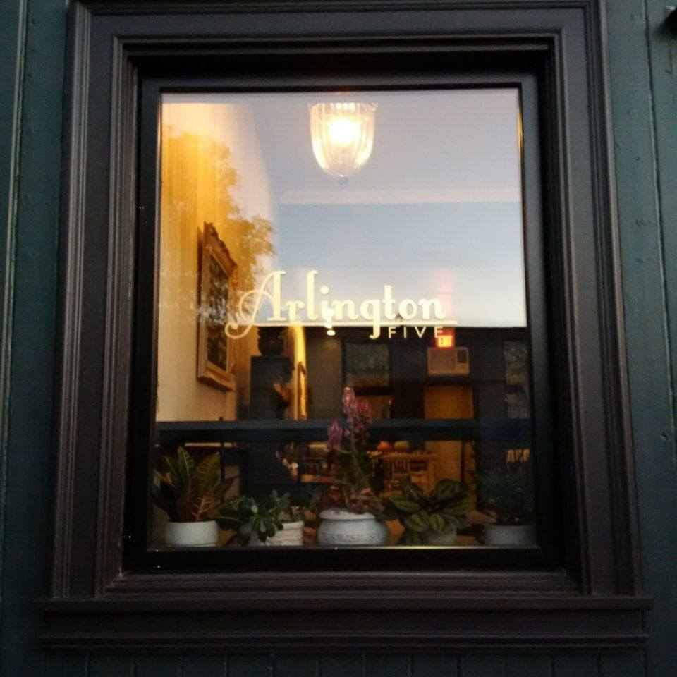 Window from outside cafe