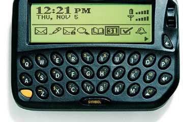 clamshell wireless handheld device blackberry