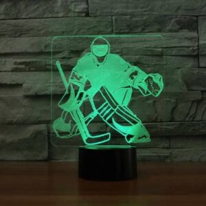 HOCKEY GOALIE 3D ILLUSION LAMP