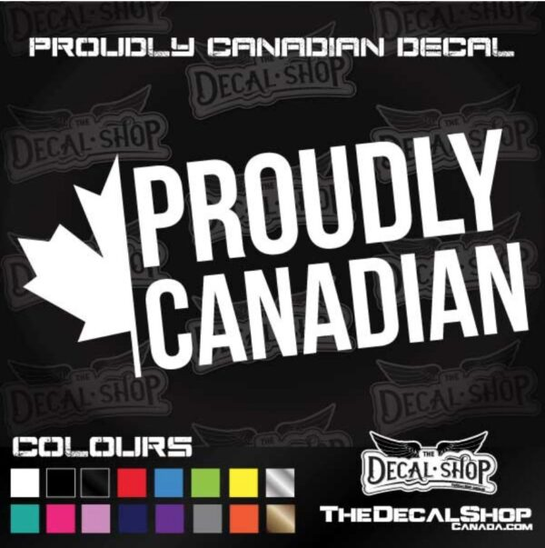 Proudly Canadian Decal