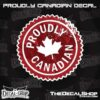 Proudly Canadian Stamp Decal